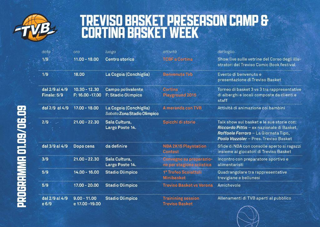 Cortina Basket Week: il programma riservato ai Consorziati