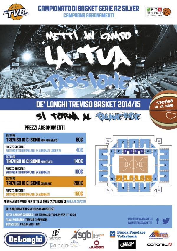 Campagna Abbonamenti De' Longhi Universo Treviso Basket