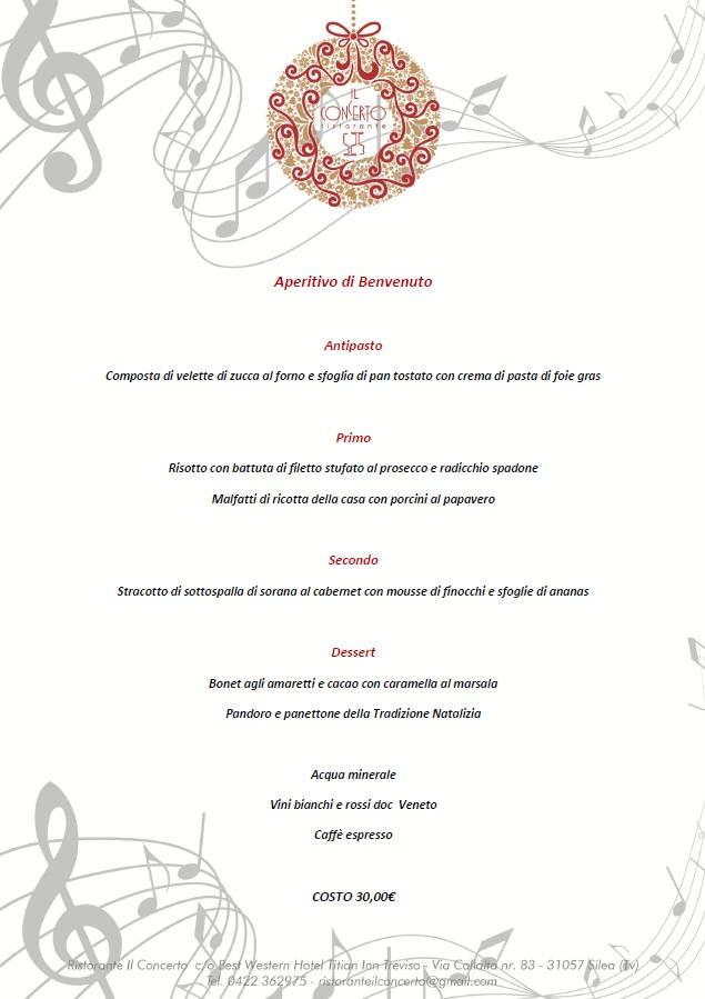 menu ristorante il concerto treviso