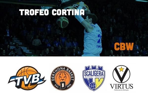 Cortina Basket Week: Treviso, Verona, Tortona e Bologna  allo Stadio Olimpico per il primo Trofeo Città di Cortina