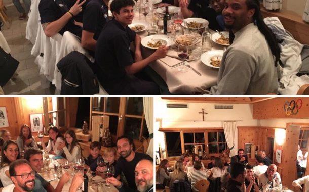 Cena al rifugio Col Drusciè per la chiusura di Cortina Basket