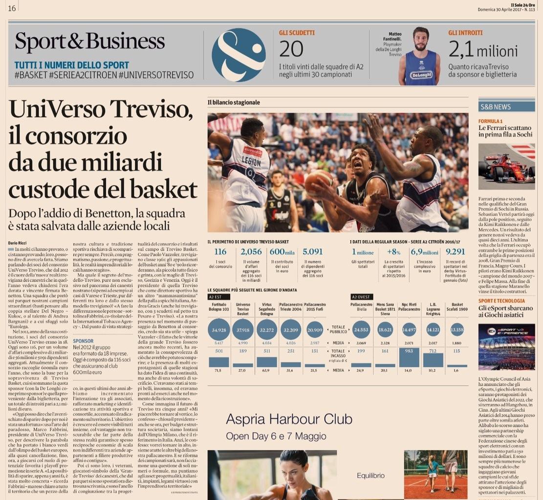 Sole24Ore sul Consorzio UniVerso Treviso