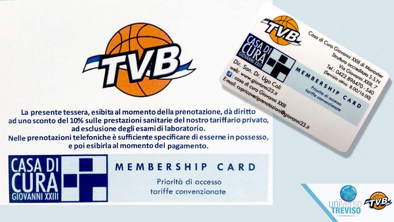 MEMBERSHIP CARD Casa di Cura Giovanni XXIII