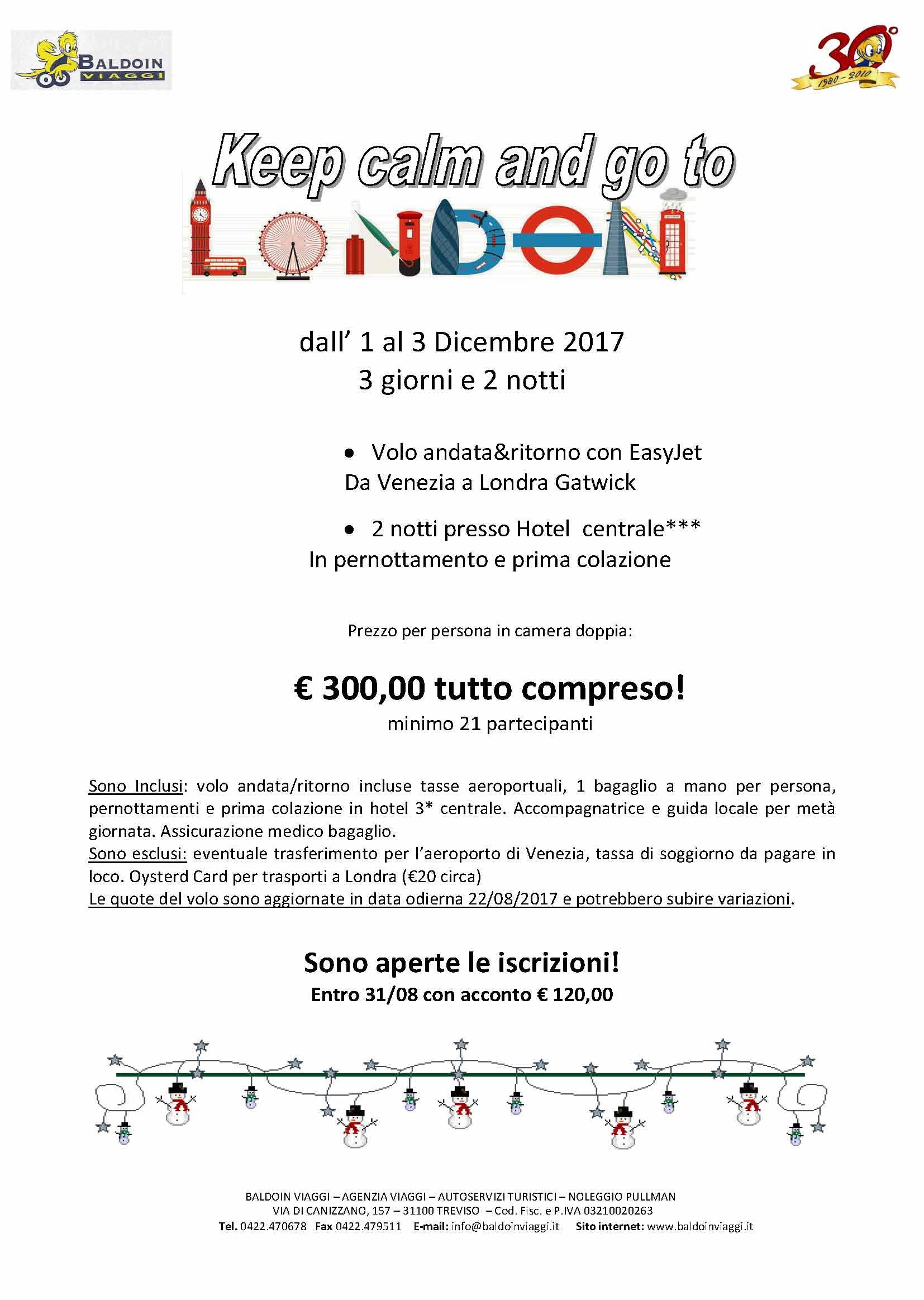 VOLA A LONDRA con Baldoin Viaggi! | Consorzio Universo Treviso