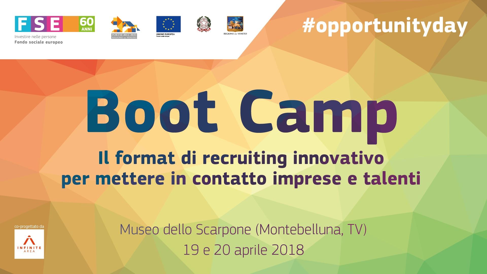 Cerchi talenti? Vieni al Boot Camp 2018