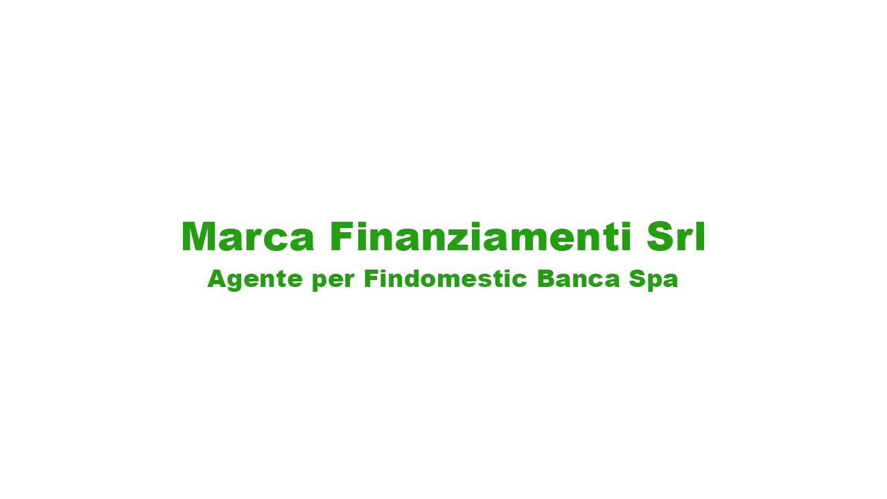 Nuovo ingresso: MARCA FINANZIAMENTI SRL