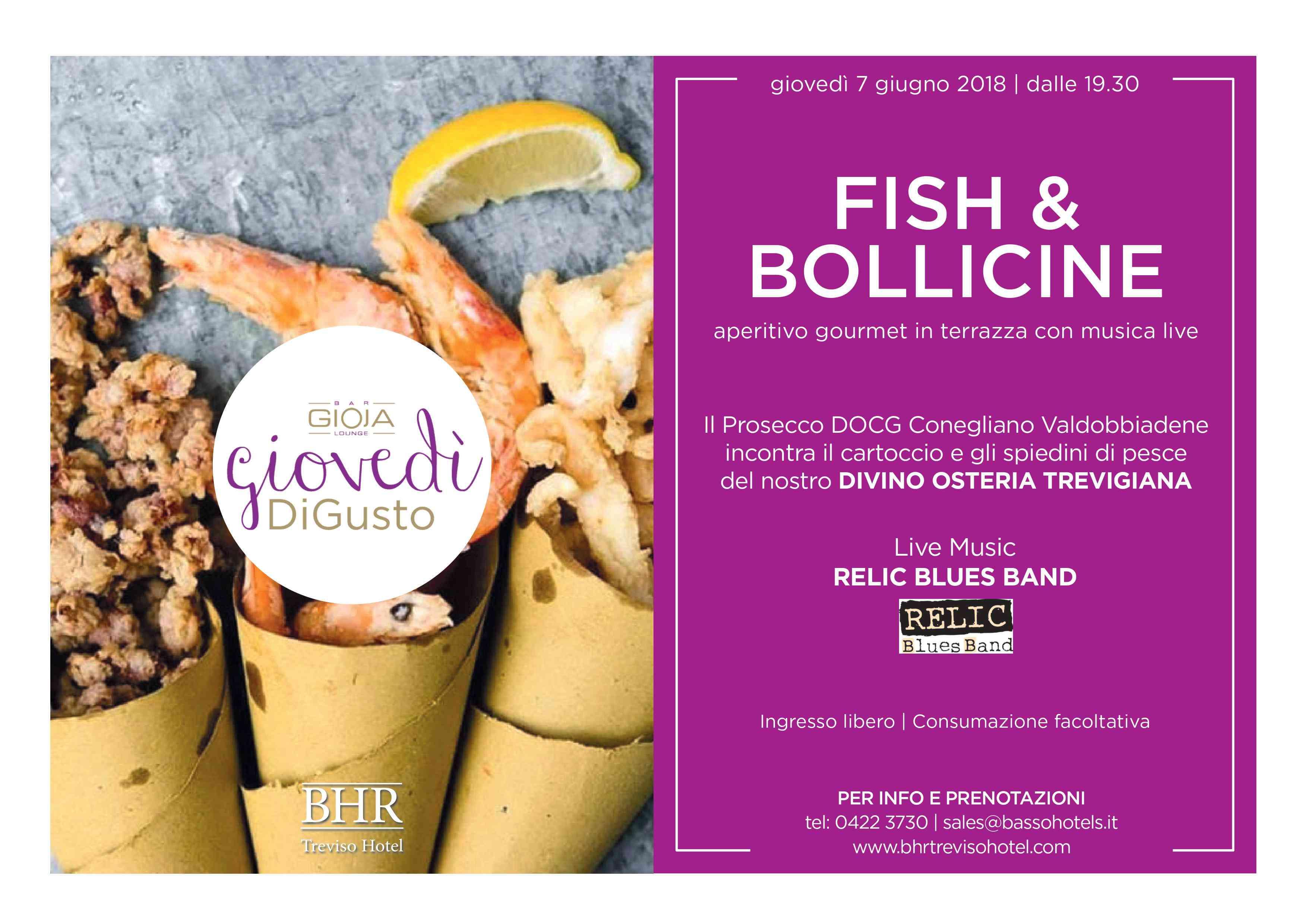 FISH & BOLLICINE al Gioja Lounge Bar