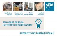 Disinfezione e sanificazione firmate SGD Group